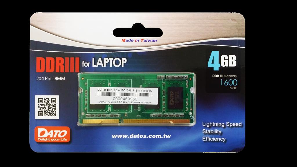 MEMORIA RAM DDR3L 4GB PC1600 1.35V LAPTOP PCMARK COMPUTADORES